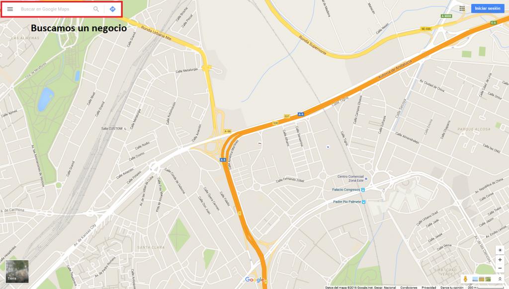 encontrar un negocio en google maps