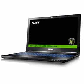 """MSI WS63 7RK-408ES - Ordenador portátil DE 15.6"""" UHD (Kabylake i7-7700HQ, RAM de 16 GB DDR4, SSD de 512 GB y 1 TB HDD, Nvidia Quadro P3000, Windows 10 Pro) Negro"""