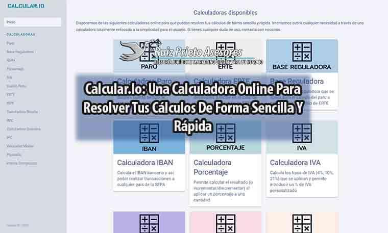 Calcular.Io: Una Calculadora Online Para Resolver Tus Cálculos De Forma Sencilla Y Rápida