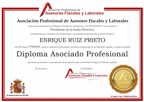 APAFL Asociación Profesional de Asesores Fiscales y Laborales
